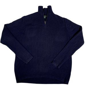 J.Crew Sweater 1/4 Zip Pullover Chunky Knit Ribbed
